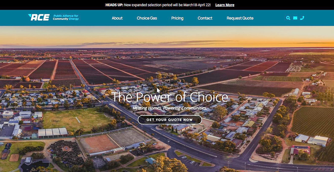 ACE unveils new website for Nebraska Choice Gas customers